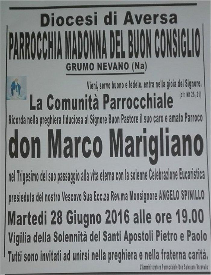 don marco trigesimo manifesto
